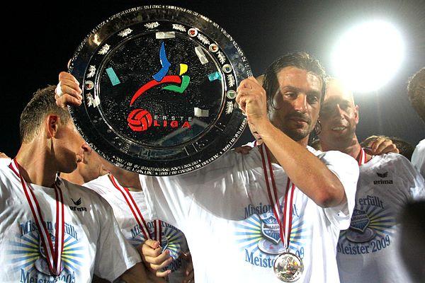 SC Wiener Neustadt win the 2008-09 Ersten Liga